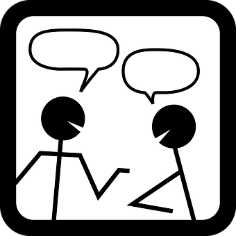 To talk clipart black and white jpg freeuse download Talking clipart black and white » Clipart Station jpg freeuse download