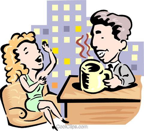 Talk show host clipart jpg free library Talk show host and guest Royalty Free Vector Clip Art ... jpg free library
