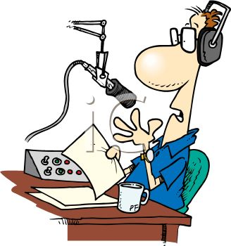 Talk show host clipart image black and white talk show host\