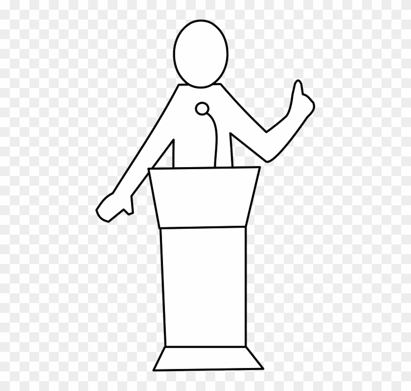 Talker clipart banner royalty free stock Public Speaker Talker Education Podium Presentation - Speech ... banner royalty free stock