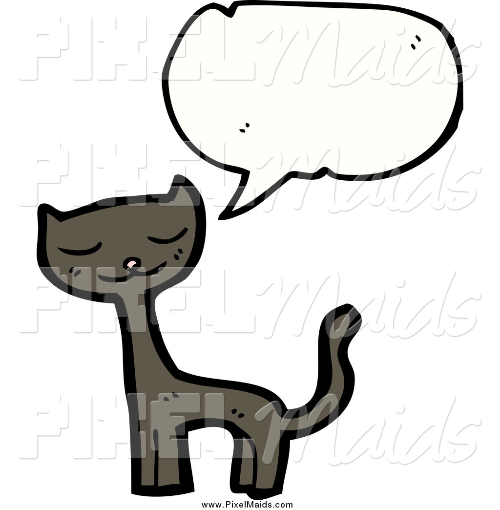 Talking cat clipart banner free download Clipart of a Talking Brown Cat by lineartestpilot - #124441 banner free download