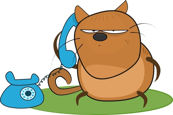 Talking cat clipart image freeuse download Cat Talking In Phone clip art Free vector in Open office ... image freeuse download