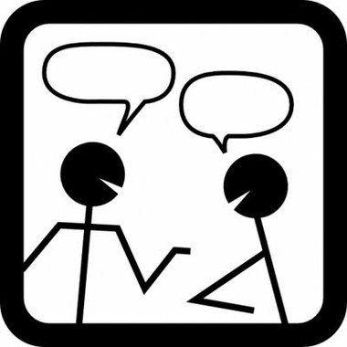 Talking clipart black and white graphic black and white Free People Speaking Cliparts, Download Free Clip Art, Free ... graphic black and white