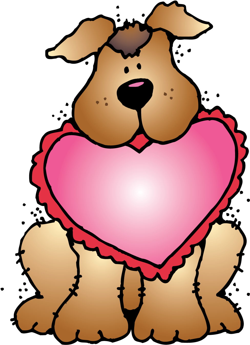 Talking dog clipart jpg free library So many fun things planned for Valentine's day on Thursday. However ... jpg free library