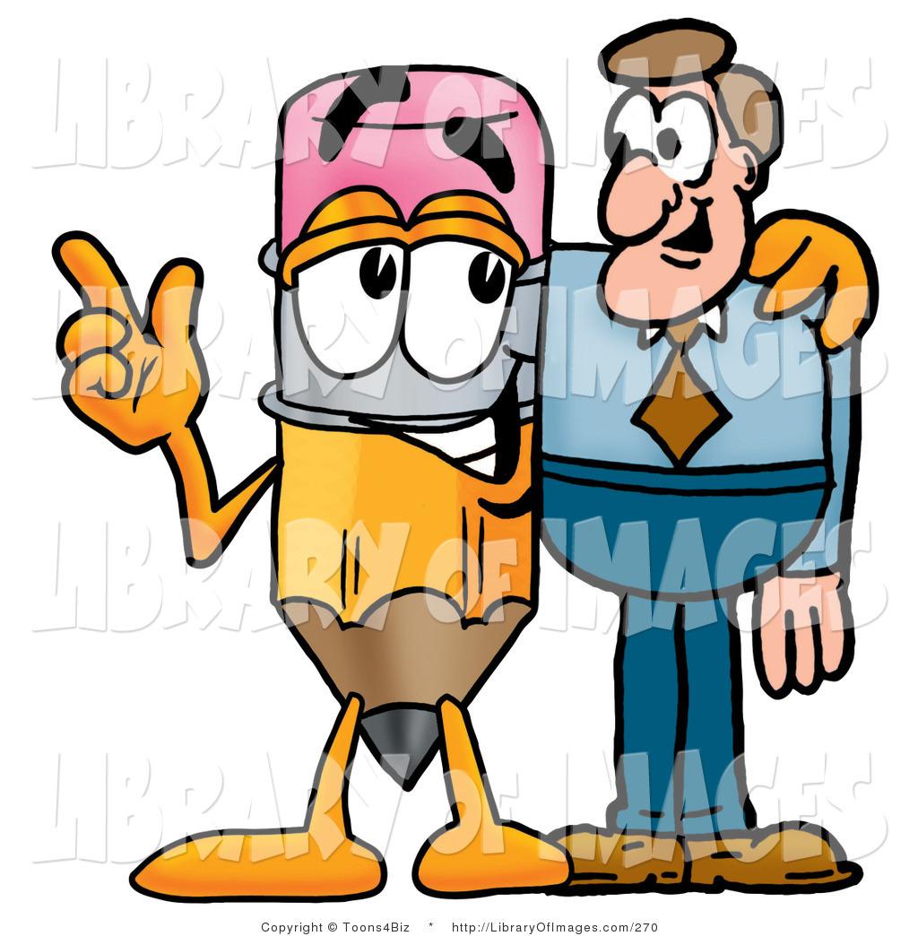 Talking pencil clipart banner stock Clip Art of a Cute Pencil Mascot Cartoon Character Talking ... banner stock