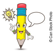 Talking pencil clipart graphic stock Talking pencil cartoon character. graphic stock