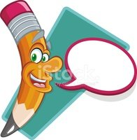 Talking pencil clipart svg library stock Smiling and Talking Pencil TO Write stock vectors - Clipart.me svg library stock