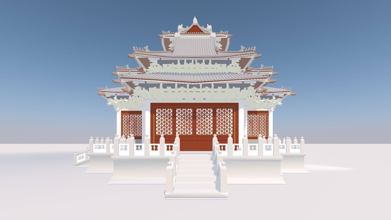 Tall ancient chinese structure clipart png free download The Dougong: A nailless Chinese construction method png free download