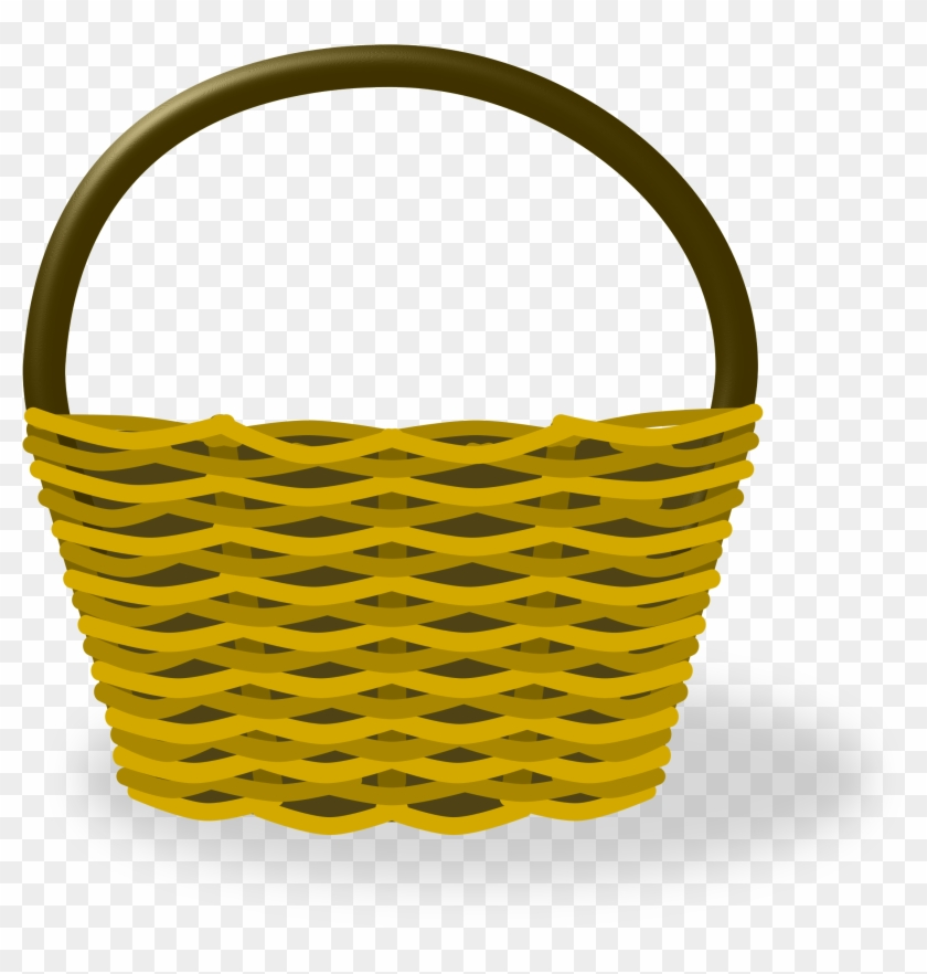 Tall basket clipart picture freeuse library Empty Shopping Basket - Hot Air Balloon Basket Cartoon, HD ... picture freeuse library