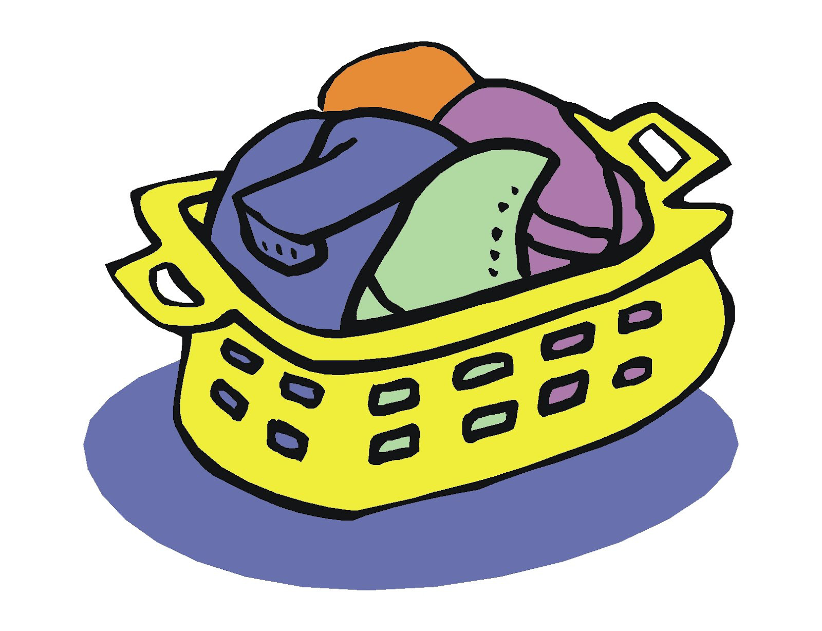 Tall basket clipart picture download Laundry Basket Clipart - Making-The-Web.com picture download