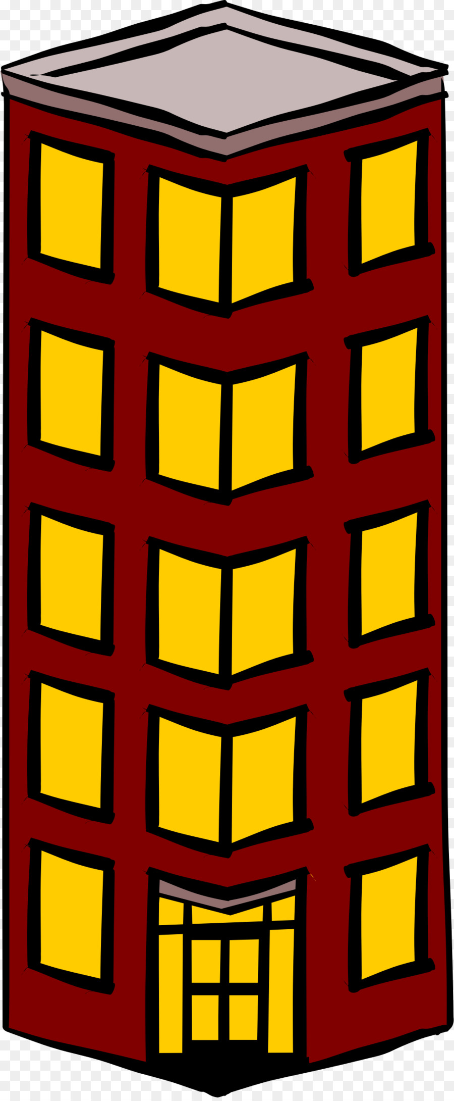 Tall biulding clipart graphic stock Building Cartoon clipart - Building, Yellow, Line ... graphic stock