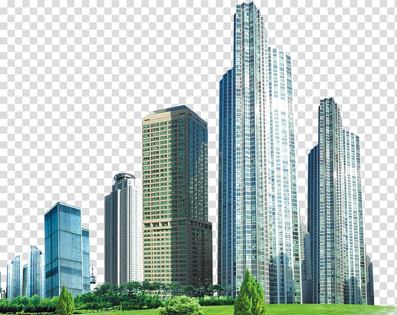 Tall biulding clipart graphic download High-rise buildings near green grass illustration, Building ... graphic download