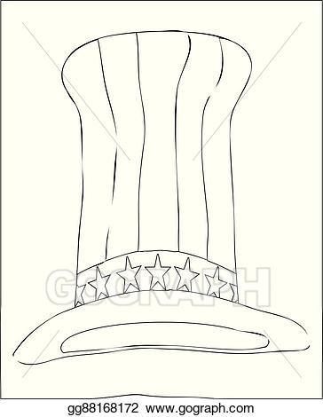 Tall black and white clipart clip art black and white stock Clip Art Vector - Tall black and white striped hat. Stock ... clip art black and white stock