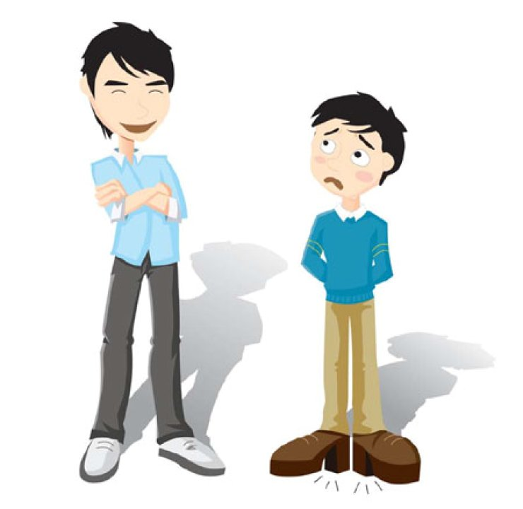 Tall boy short boy clipart graphic royalty free library Short men desperate to look taller graphic royalty free library