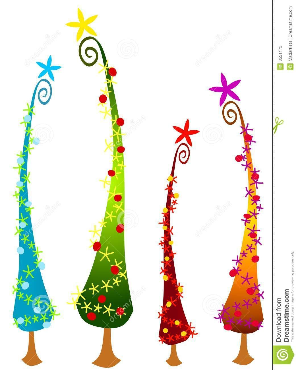 Tall christmas tree clipart clip royalty free stock An abstract clip art illustration of tall cartoonish ... clip royalty free stock