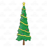 Tall christmas tree clipart svg library library Christmas Tree, narrow, decorated svg library library