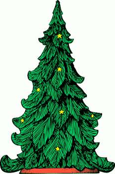 Tall christmas tree clipart svg royalty free stock Free Clipart Picture of a Tall Christmas Tree with Small Stars svg royalty free stock