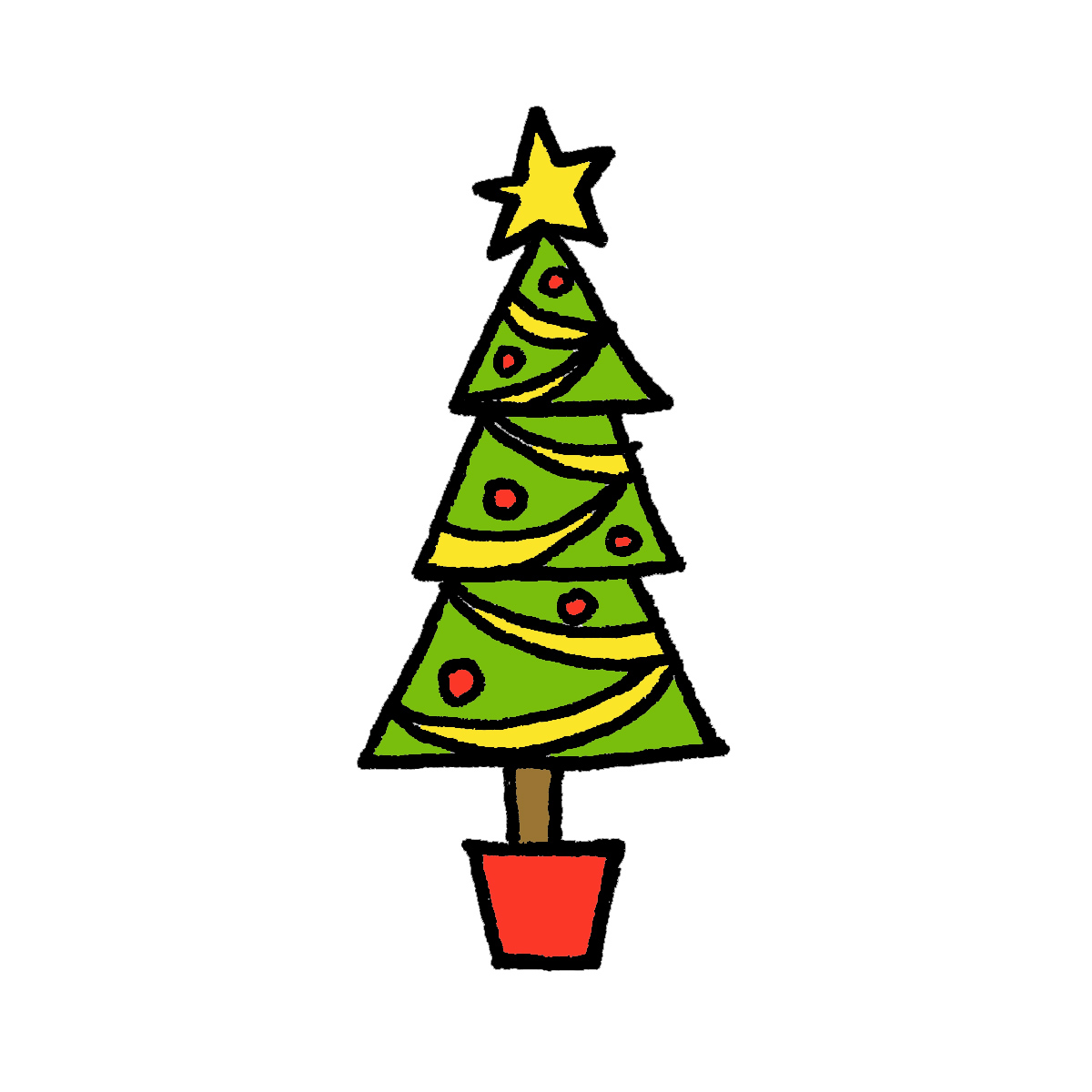 Tall christmas tree clipart svg black and white download How to Draw a Christmas Tree: 4 Cartoon Tutorials svg black and white download