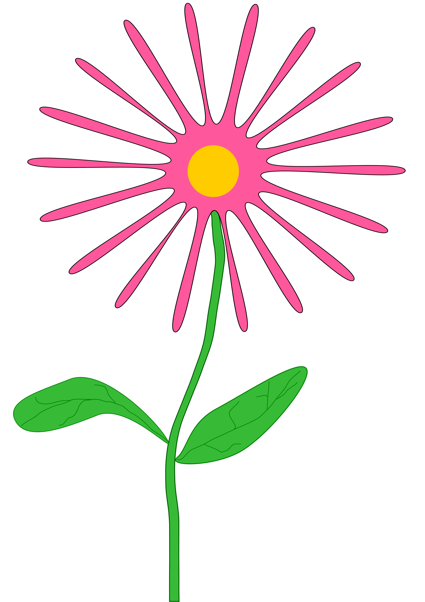 Whimsical flower clipart image download Clipart - Whimsical pink flower image download