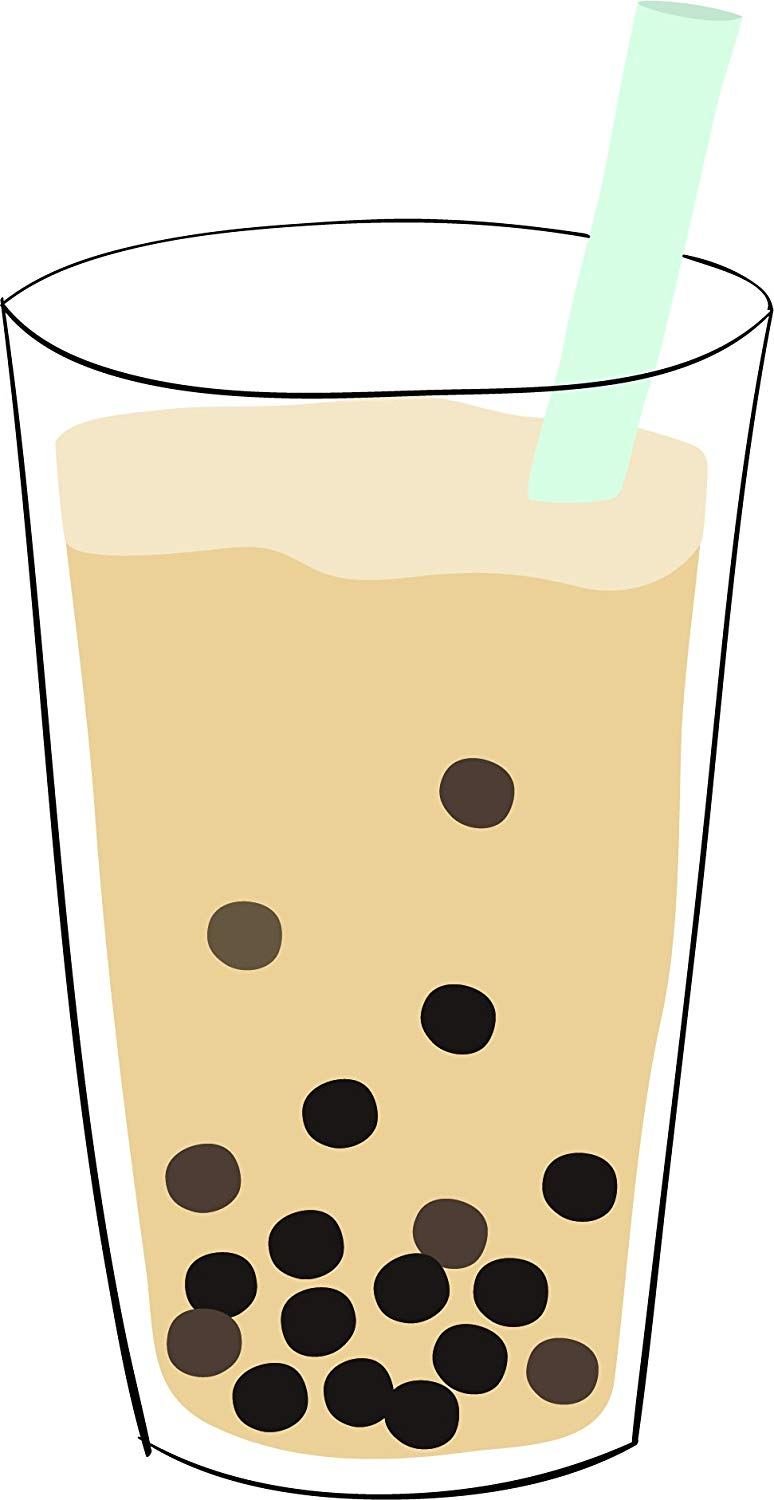 Tall glass of milk clipart vector freeuse library Buy Simple Yummy Boba Bubble Tea Drink Cartoon Vinyl Sticker ... vector freeuse library