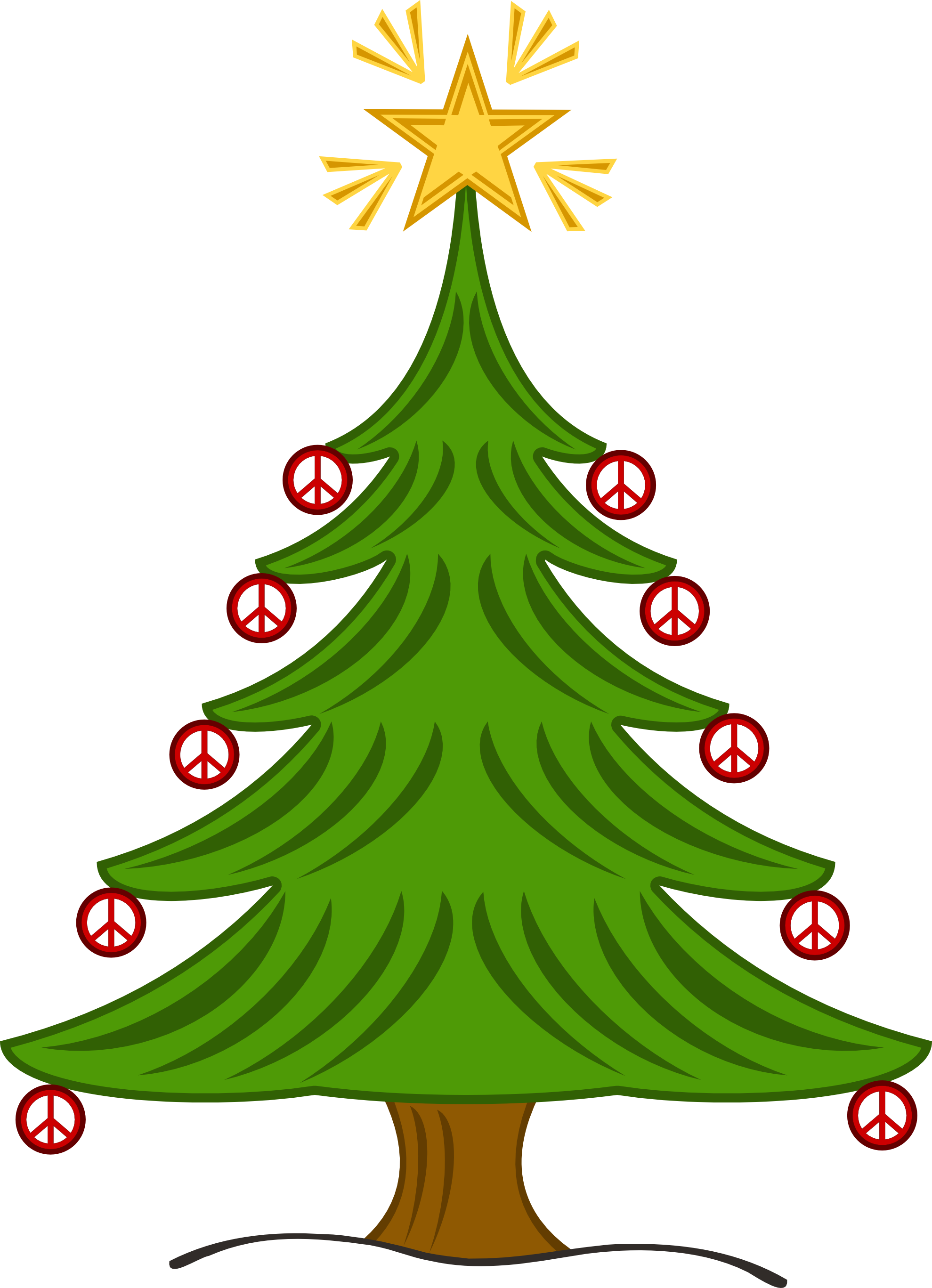 Tall skinny christmas tree clipart png royalty free clipartist.net » Illustration png royalty free