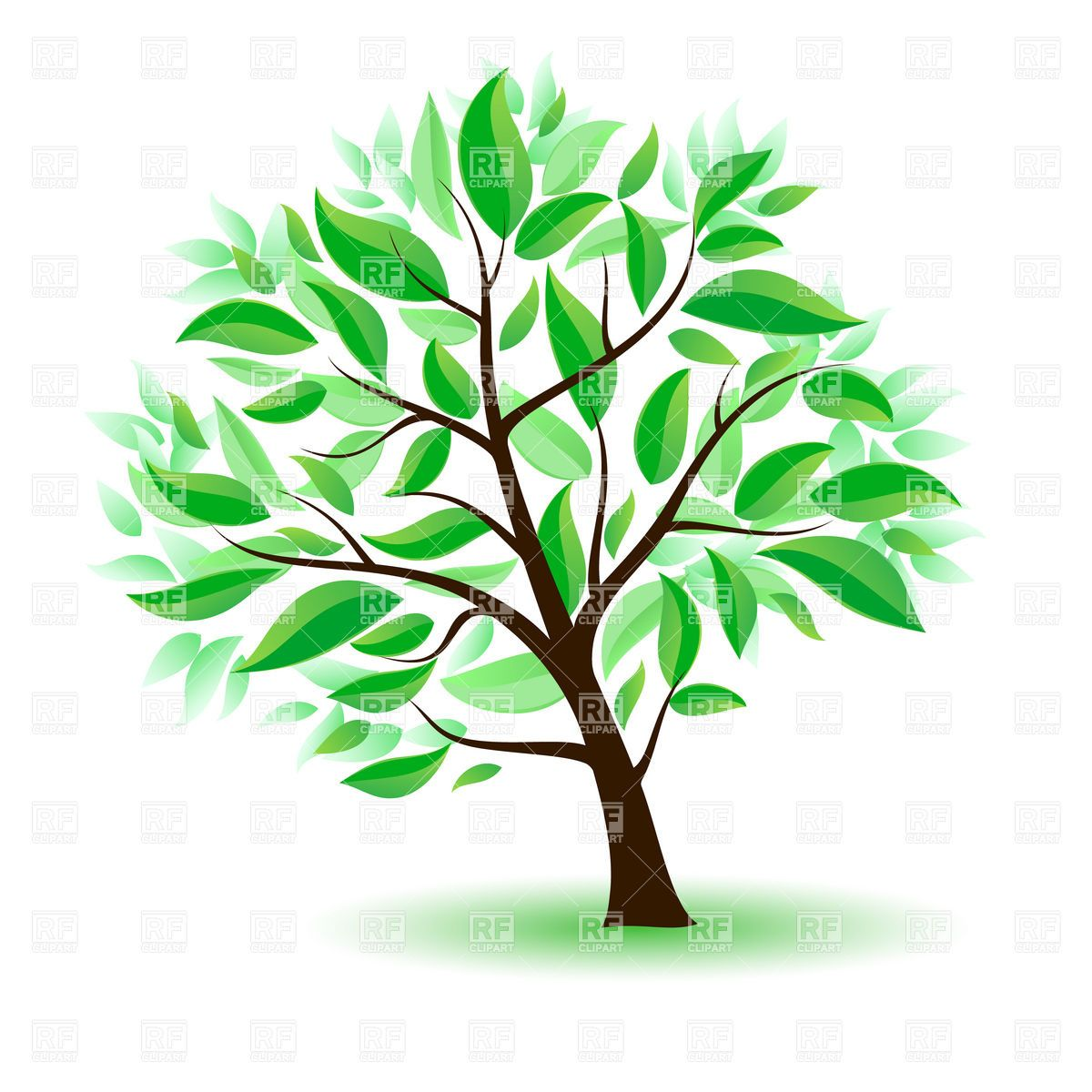Tree with roots fruit and leaves and falling leaves clipart graphic Clipart Tree With Branches And Leaves | Clipart Panda - Free ... graphic
