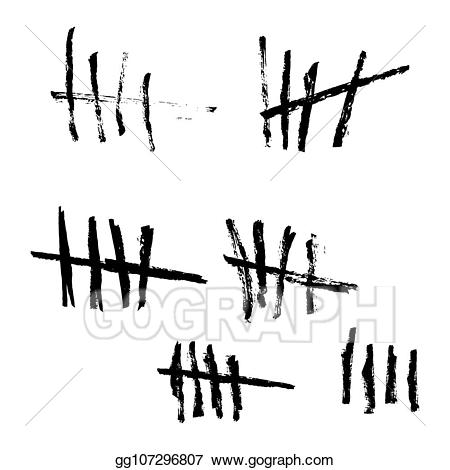 Tallies clipart black background banner stock Vector Clipart - Vector tally marks. Vector Illustration ... banner stock