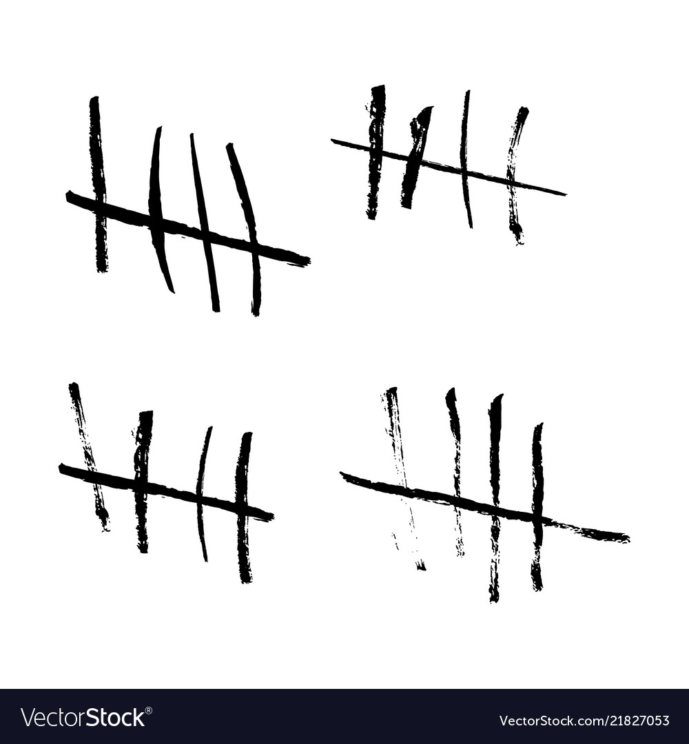 Tallies clipart black background vector Tally marks vector image vector