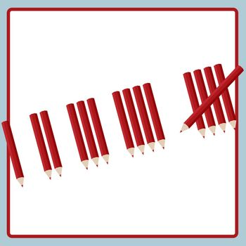 Tallies clipart clipart royalty free download Colored Pencil Tally Marks - Counting Tallies 60 Pieces of Clip Art clipart royalty free download