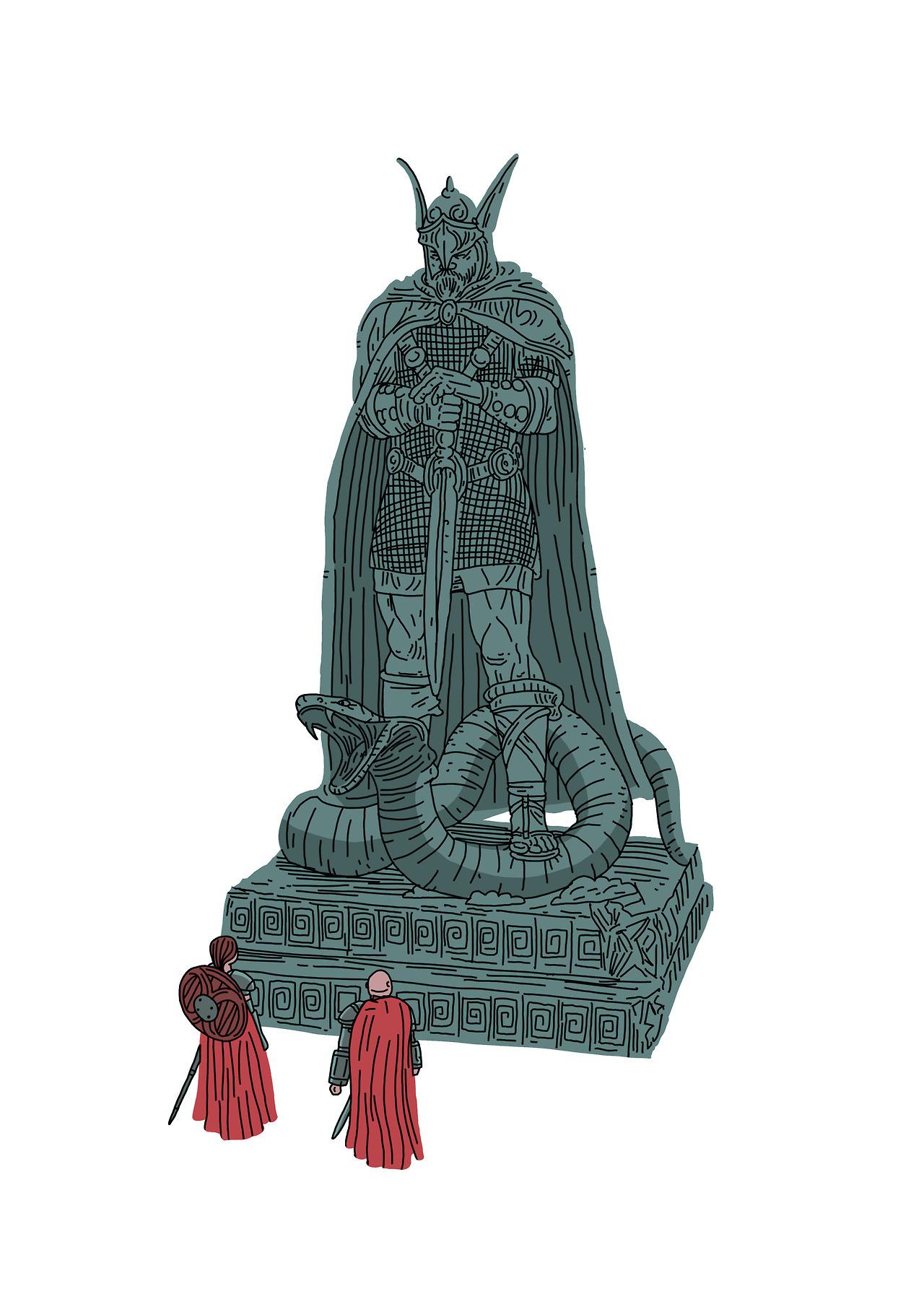 Talos statue clipart vector freeuse library Nodosaurus-Thomas howes — Shrine of Talos vector freeuse library
