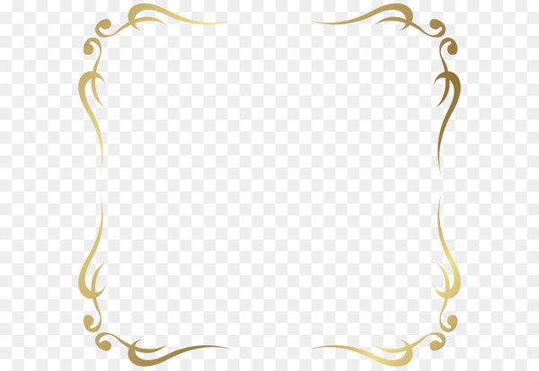 Tan fancy filigree clipart banner royalty free Gold Clip art - Decorative Frame Border PNG Picture - Nohat banner royalty free