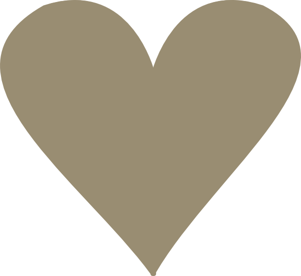 Tan heart clipart