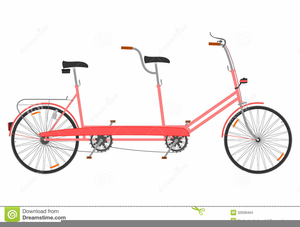 Tandem bicycle clipart graphic black and white library Wedding Tandem Bike Clipart | Free Images at Clker.com ... graphic black and white library