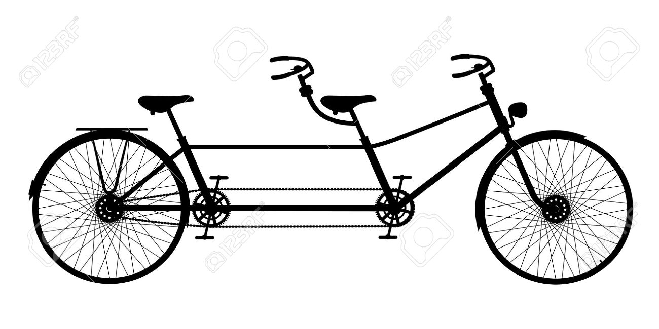 Tandem bicycle clipart svg free library Tandem Bike Clipart & Look At Clip Art Images - ClipartLook svg free library