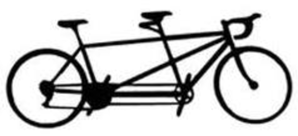 Tandem bicycle clipart picture library library Free Tandem Bike Clipart, Download Free Clip Art, Free Clip ... picture library library