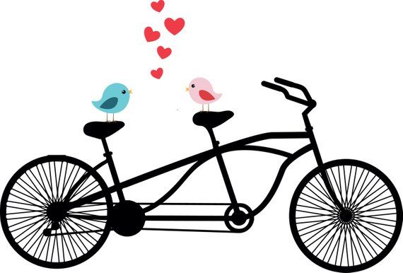 Tandem clipart png free download Tandem Bicycle Clipart, Love birds, Wedding invitation ... png free download