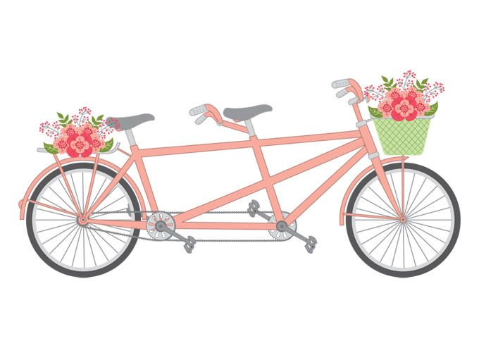 Tandem clipart png free download Tandem Bike Clipart - Vector Tandem Bike Clipart, Tandem ... png free download
