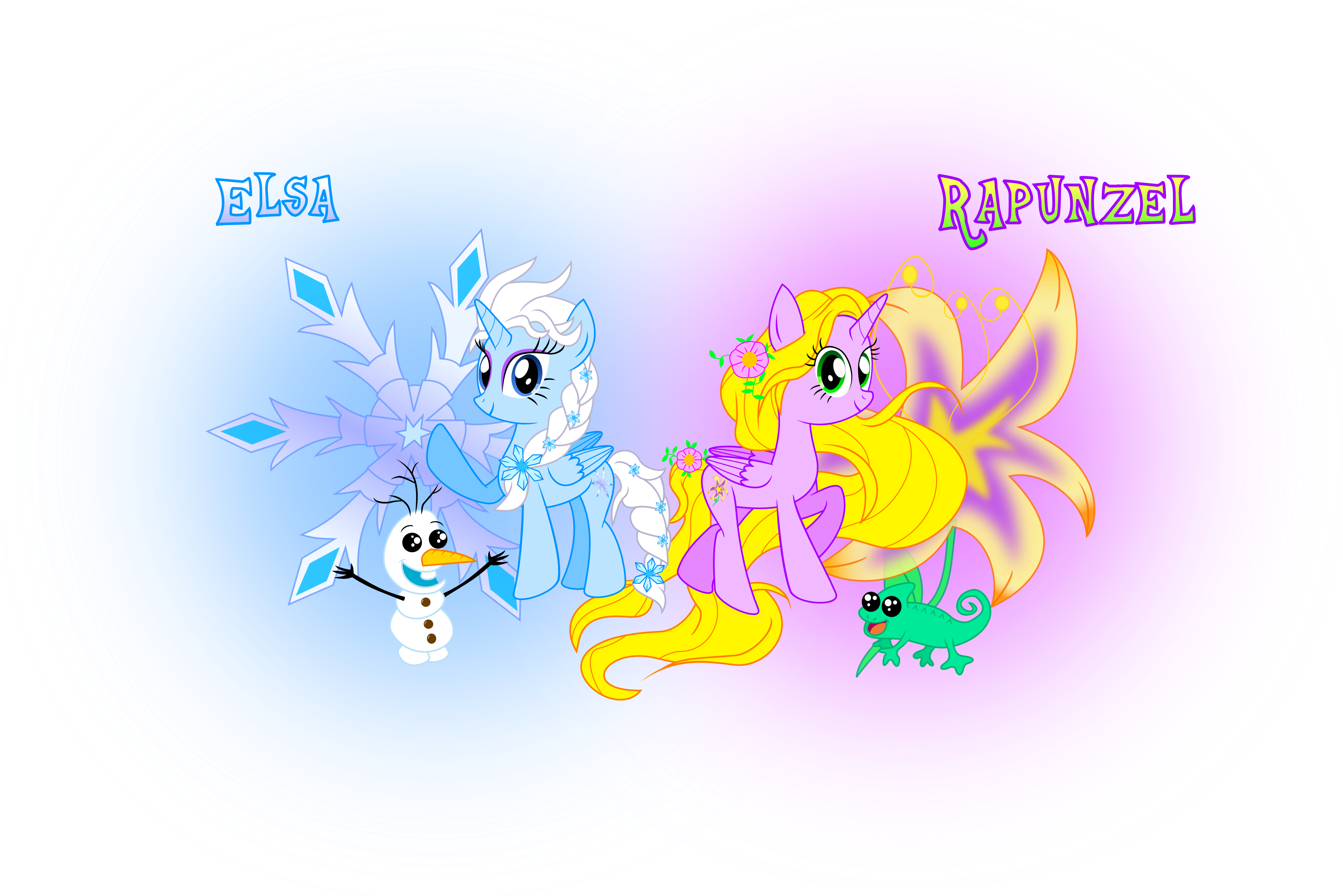 Tangled sun png clipart svg library library MLP Elsa[Frozen] and MLP Rapunzel[Tangled] by MeganLovesAngryBirds ... svg library library