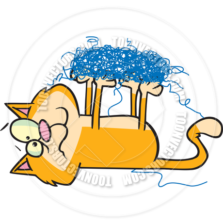 Tangled yarn clipart picture free download Cat With Yarn Clip Art | Free download best Cat With Yarn ... picture free download