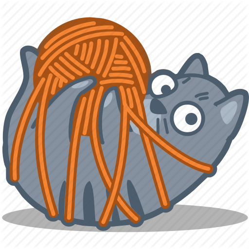 Tangled yarn clipart image library library Icon Cat #247550 - Free Icons Library image library library