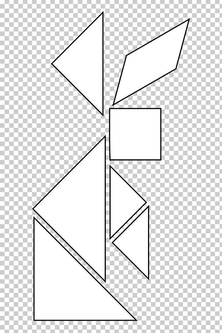 Tangram clipart black and white graphic freeuse stock Tangram Coloring Book Geometric Shape Line Art Education PNG ... graphic freeuse stock