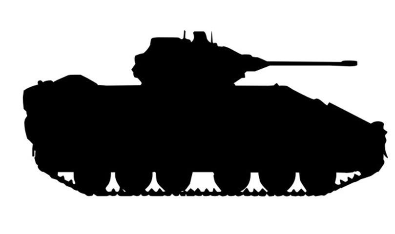 Tank silhouette clipart jpg freeuse Army Tank Silhouette 4 Decal Sticker jpg freeuse