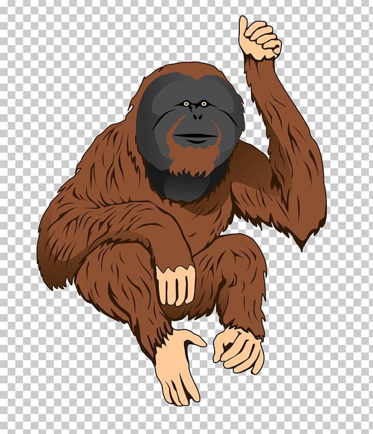 Tapanuli orangutan clipart graphic black and white stock Bornean Orangutan Sumatran Orangutan Ape PNG, Clipart, Ape ... graphic black and white stock
