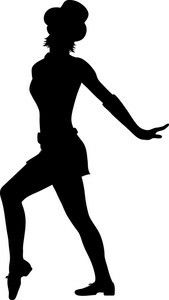 Tapdancer clipart vector library library Tap dancer | Use Your Noodle | Dance silhouette, Dancer ... vector library library