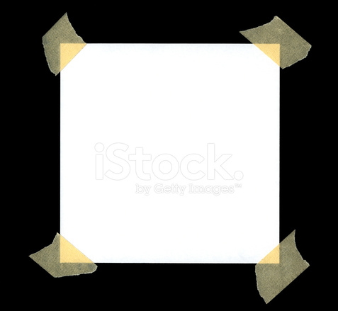 Tape corners clipart vector freeuse Blank White Paper With Tape on Corners Stock Photos ... vector freeuse