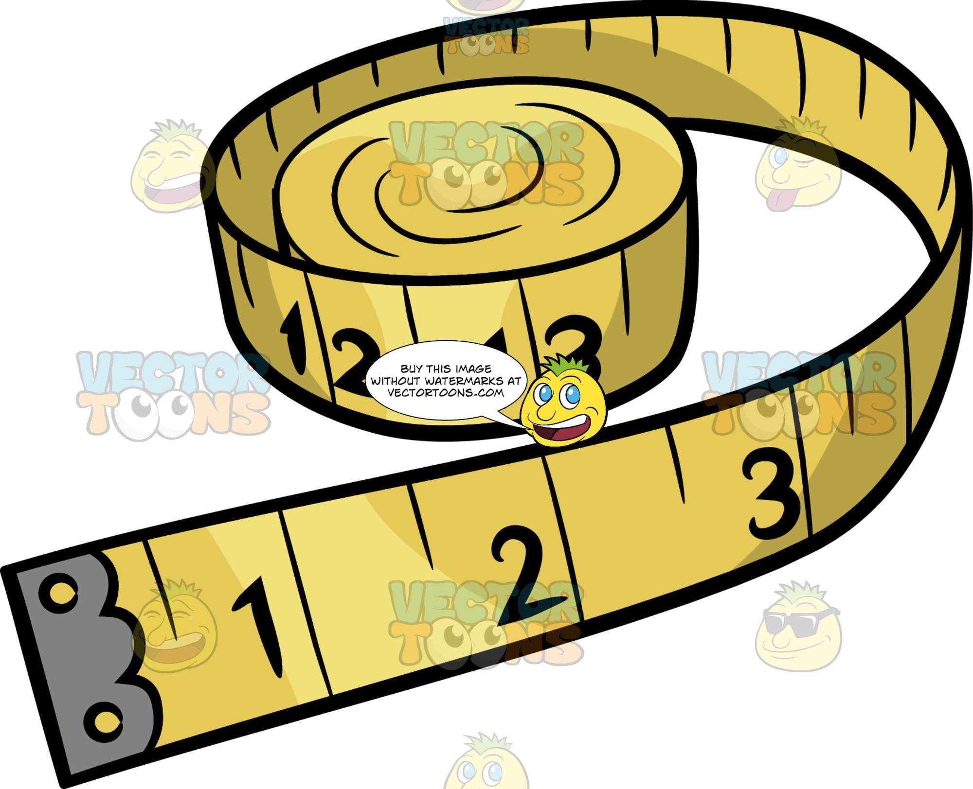 Tape measuer clipart logo stock A Tape Measure stock