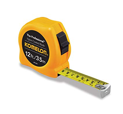 Tape measure clipart side view vector freeuse Komelon 4912IM The Professional 12-Foot Inch/Metric Scale Power Tape, Yellow vector freeuse