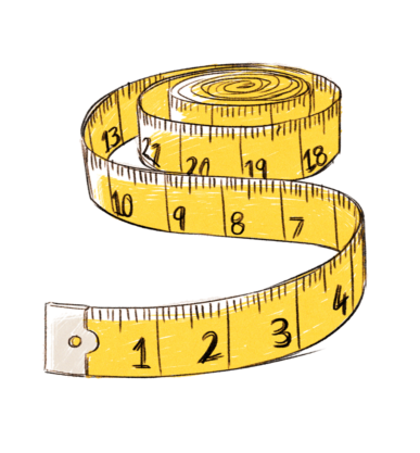 Tape measure clipart side view black and white Brave leaders hold and measure clear goals - Social Ventures ... black and white