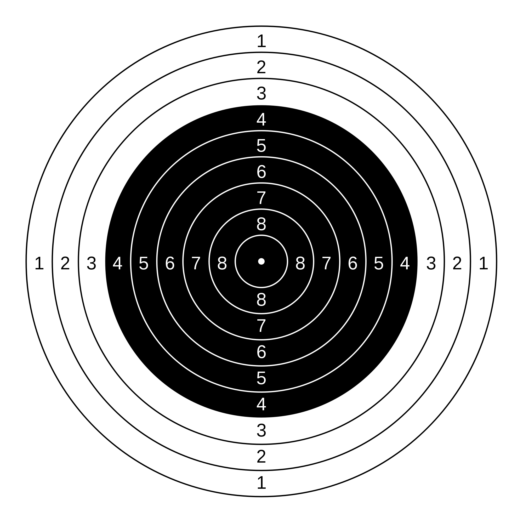 Target royalty free download File:10 m Air Rifle target.svg - Wikimedia Commons royalty free download