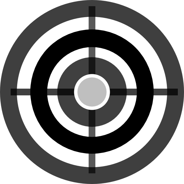 Target clipart banner black and white library Grey Target Clip Art at Clker.com - vector clip art online, royalty ... banner black and white library